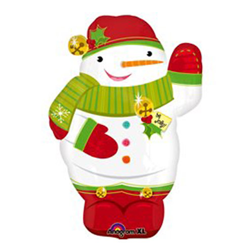 "30"" Christmas Snowman Helium Balloon - x24"