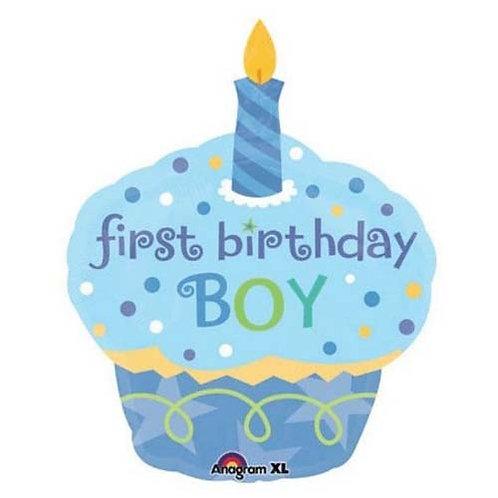 "36"" Boy 1st Birthday Cake Helium Balloon - f28"