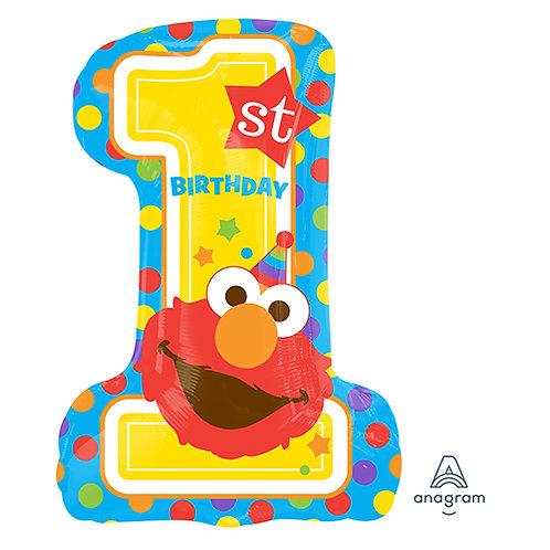 "28"" Sesame Street 1st Birthday Helium Balloon - f30"
