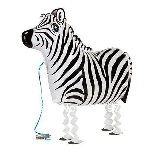 "18"" Zebra Walking Pet Helium Balloon - wp10"