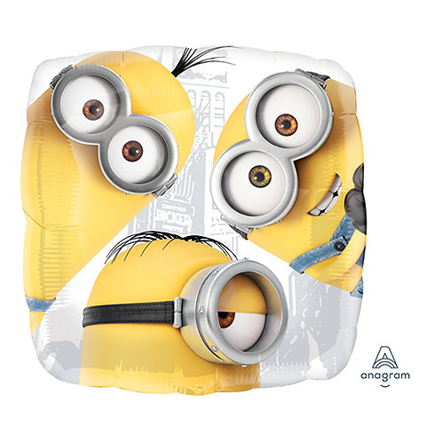"""18"""" 3 Minions Together Helium Balloon - y74"""