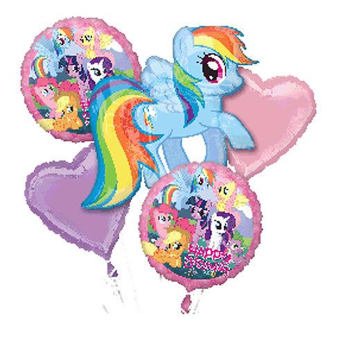My Little Pony Rainbow Helium Balloon Bouquet - bq15