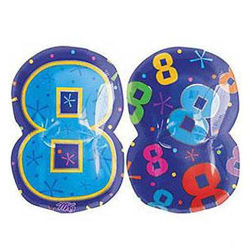 "30"" Blue Number 8 Helium Balloon - num28"