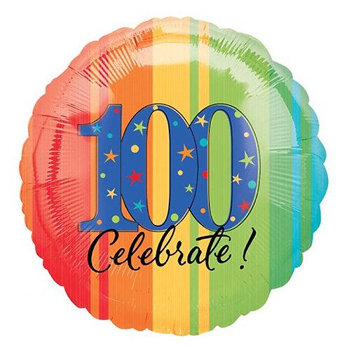 "18"" 100 Celebrate Number Helium Balloon- num13"