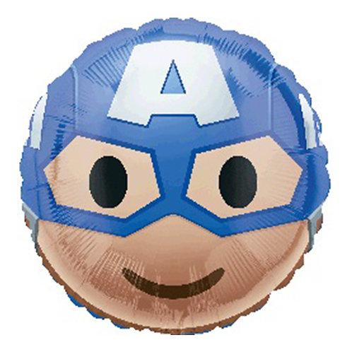"18"" Superhero Captain America Cartoon Head Helium Balloon - s20"