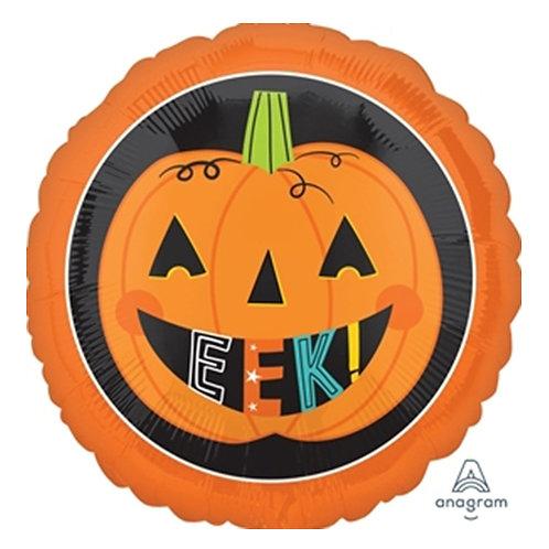 "18"" Pumpkin Smiling Halloween Helium Balloon - hw03"