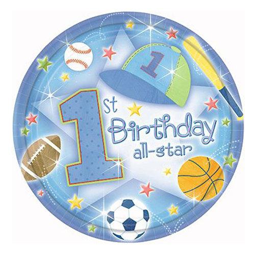 "18"" Sports Theme 1st Birthday Helium Balloon - f24"