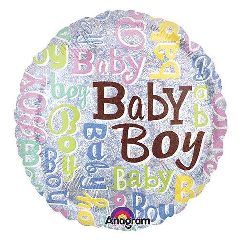 "18"" Baby Boy Word Puzzle Helium Balloon - bb26"