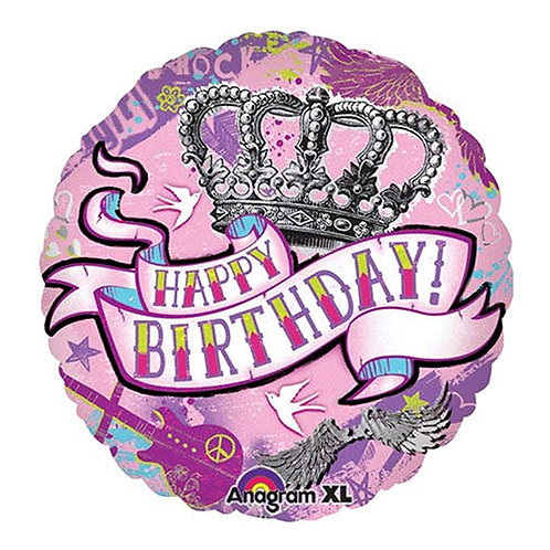 "18"" Princess Crown HBD Helium Balloon - ps29"