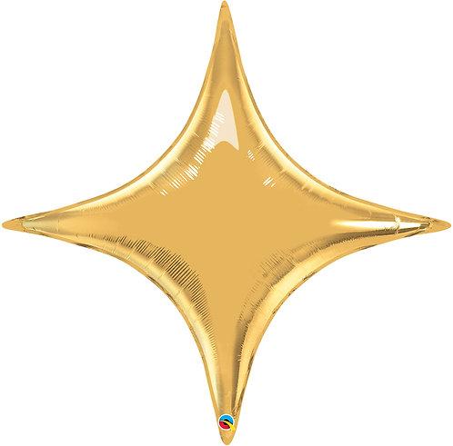 "40"" Four Points Star Helium Balloon - Gold"