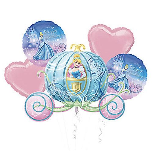 Cinderella Carriage Helium Balloon Bouquet - bq14