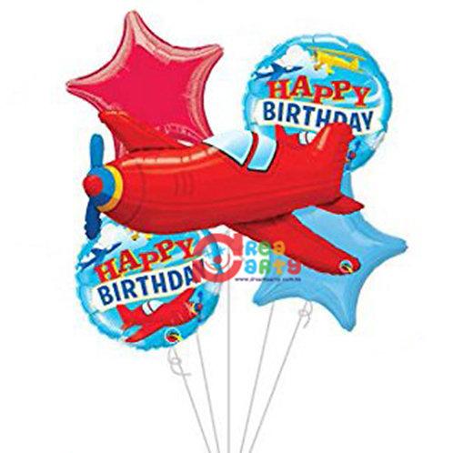 Red Aeroplane Helium Balloon Bouquet - bq60