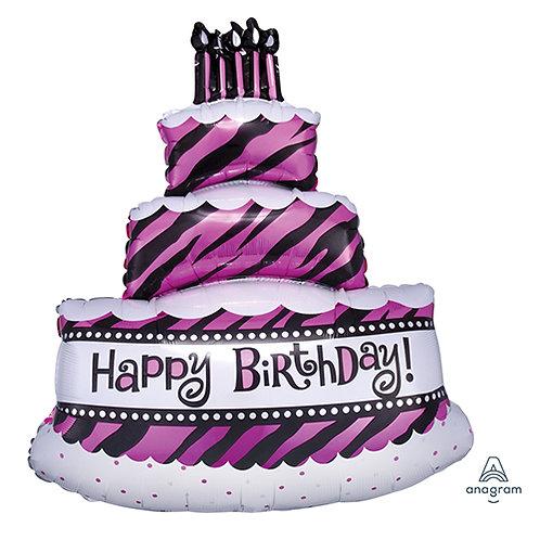 """40"""" 3 Layers Birthday Cake HBD Helium Balloon - hb17"""