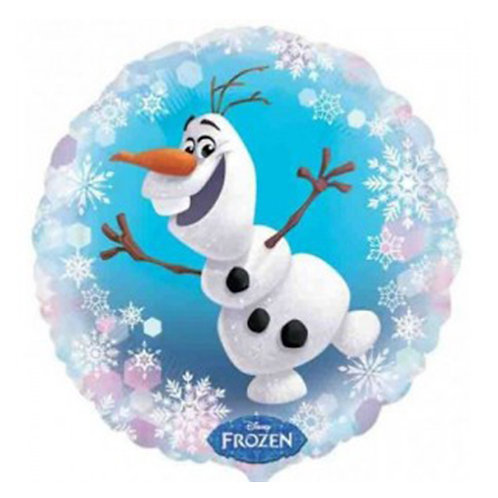 "18"" Frozen Olaf Snow Pattern Helium Balloon - ps43"