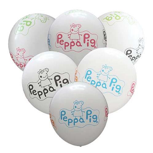 "11"" Peppa Pig Pattern Latex Balloon - 1pc"