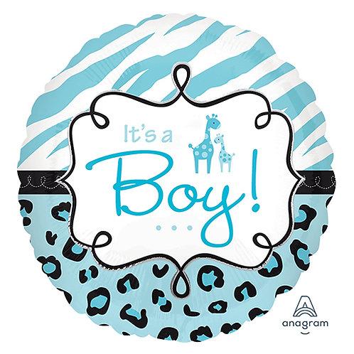 "18"" Baby Boy Blue Giraffe Helium Balloon - bb23"