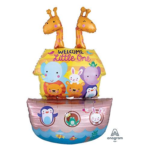 """43"""" Noah's Ark 1st Birthday Helium Balloon - f10"""