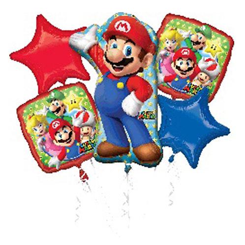 Super Mario Helium Balloon Bouquet - bq29