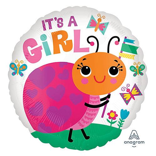 """18"""" Baby Girl Ladybug Helium Balloon - bb58"""