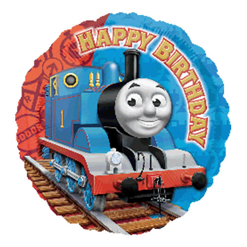 "18"" Thomas the Tank Engine HBD Helium Balloon - y16"