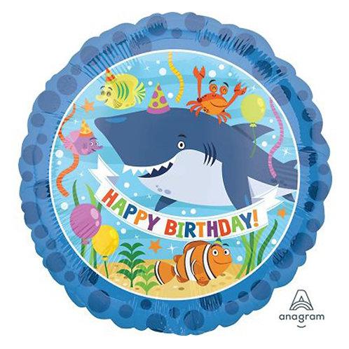 """18"""" HBD Ocean Shark Helium Balloon - z35"""