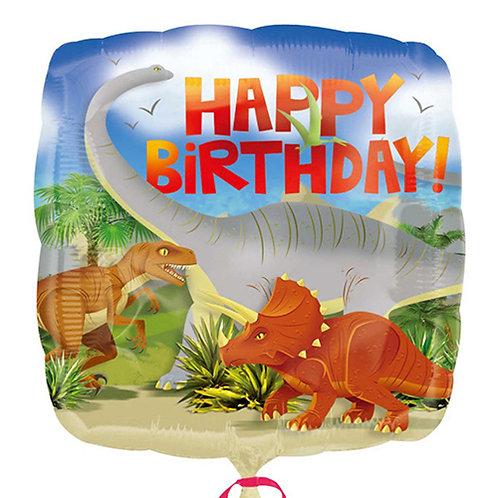 "18"" HBD 3 Dinosaurs Helium Balloon - z42"