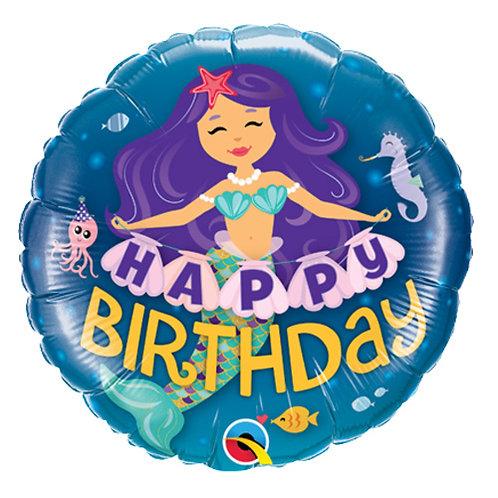 "18"" Mermaid Under the Sea HBD Helium Balloon - y120"