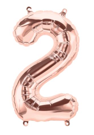 "16"" Rose Gold Number Balloon 2 - 16RG2"