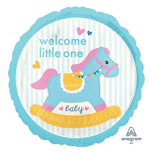 "18"" Baby Rocking Horse 1st Birthday Helium Balloon - f07"