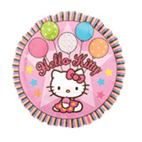"18"" Hello Kitty with Balloons and Star Pattern Helium Balloon - k10"