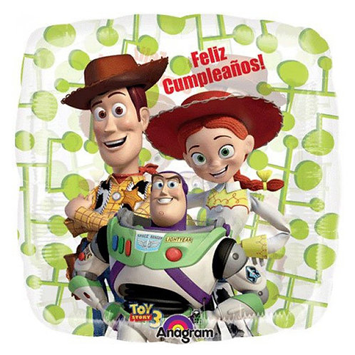 "18"" Square Shape Toy Story Woody&Buzz&Jessie Helium Balloon - t06"