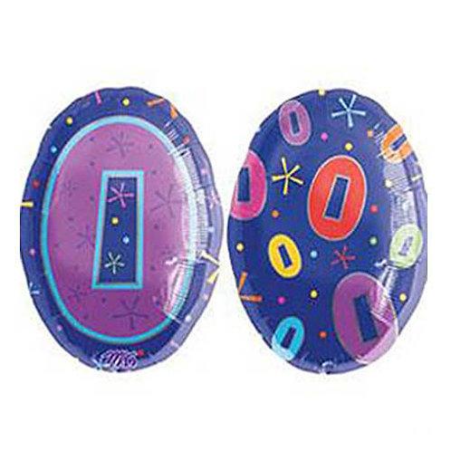 "30"" Purple Number 0 Helium Balloon - num30"