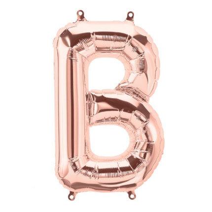 "16"" Rose Gold Letter Balloon B - 16RGB"