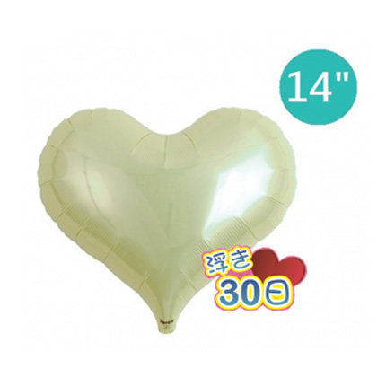 "14"" Japan ibrex Jelly Heart Helium Balloon - Metallic Ivory"