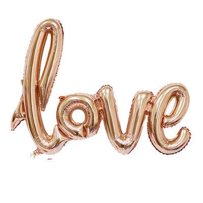 "28"" Rose Gold Cursive LOVE Letters Balloon - 28RGCLV"
