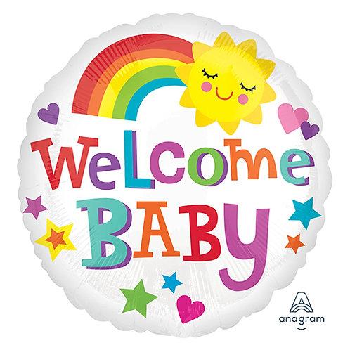 """18"""" Baby Shower Sunshine & Rainbow Helium Balloon - bb57"""