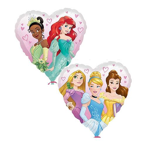 "18"" Heart Shape 5 Princess Heart Pattern Helium Balloon - ps01"