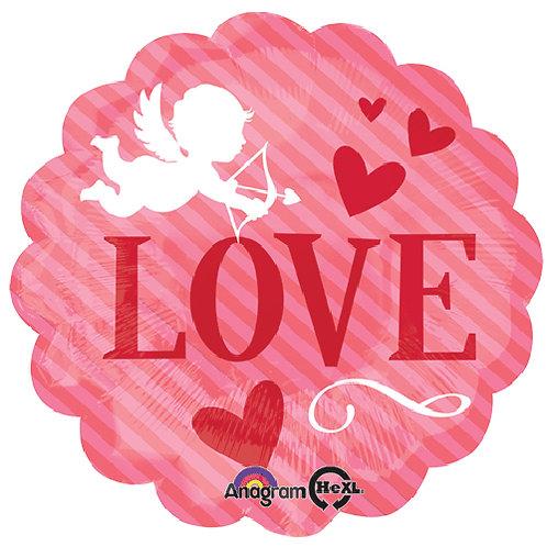 "18"" Cupid LOVE Rose Colour Helium Balloon - lv01"
