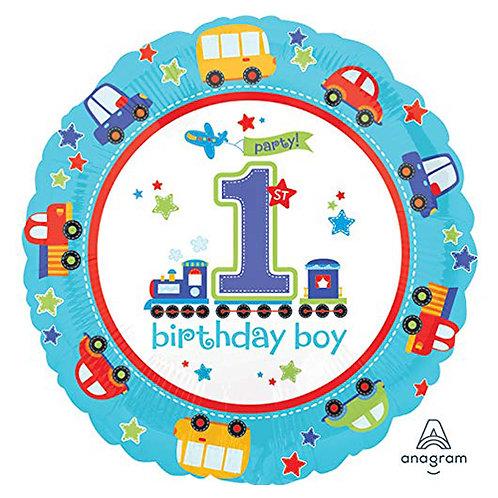 "18"" Vehicle Theme Boy 1st Birthday Helium Balloon - f05"