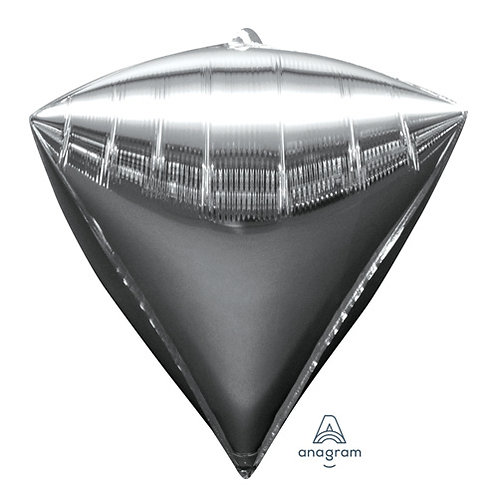 """16"""" Diamond Shape Helium Balloon - Silver"""