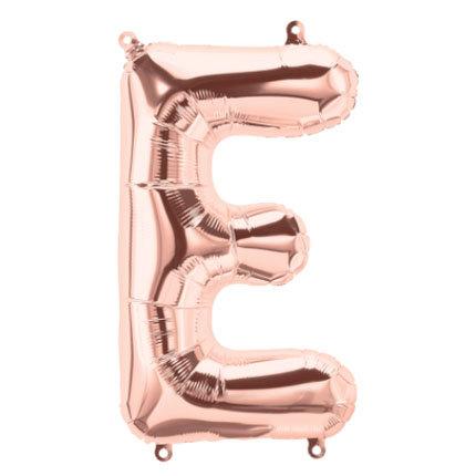 """16"""" Rose Gold Letter Balloon E - 16RGE"""