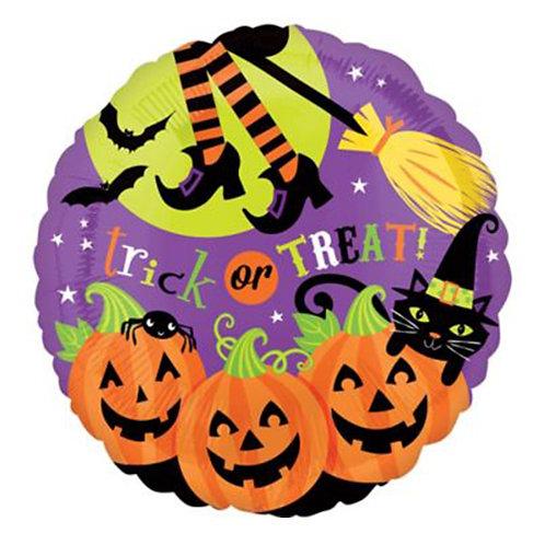 "18"" Witch 3 Pumpkin Trick or Treat Halloween Helium Balloon - hw06"