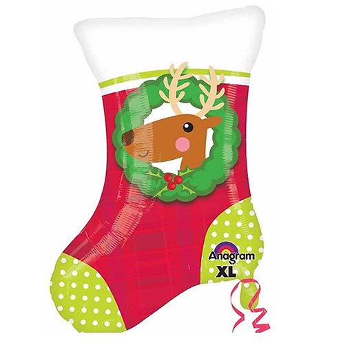 """30"""" Christmas Socks & Reindeer Helium Balloon - x16"""