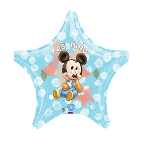 "18"" Star Shape Baby Mickey Mouse Helium Balloon - m19"
