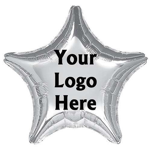 "18"" Foil Star Shape Advertising Logo Print Balloon - min.100pc"