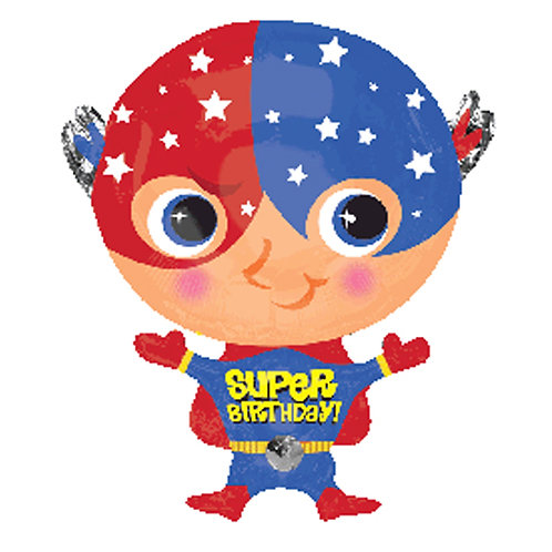 "18"" Superhero Baby Captain America Super Birthday Helium Balloon - s15"