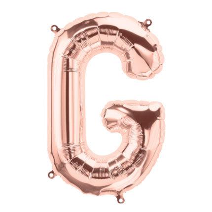 "16"" Rose Gold Letter Balloon G - 16RGG"