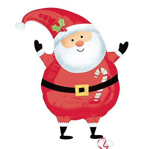 """30"""" Cute Santa Claus Christmas Helium Balloon - x14"""