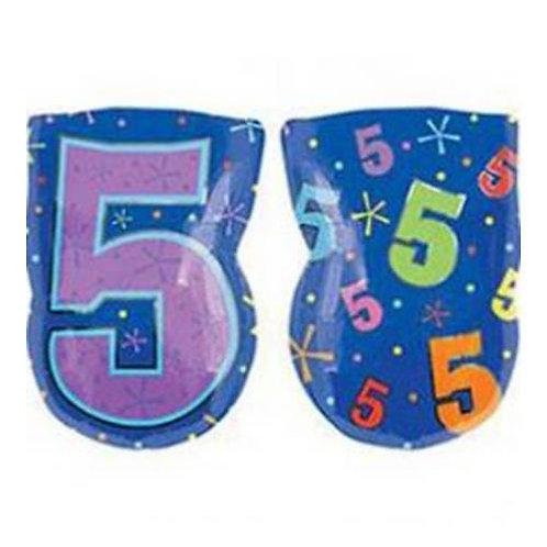 "30"" Purple Number 5 Helium Balloon - num25"
