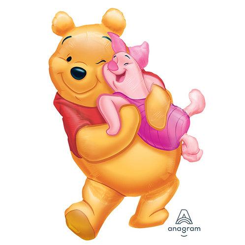 """30"""" Winnie the Pooh & Piglet Helium Balloon - w03"""